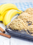 Delicious homemade cinnamon banana muffins Stock Photography