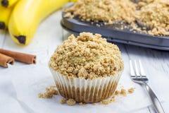 Delicious homemade cinnamon banana muffins Royalty Free Stock Photos
