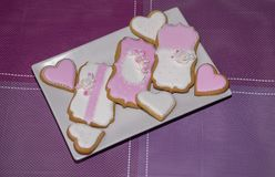 Sweet love cookies. Delicious homemade cookies as a gift for someone special Royalty Free Stock Image