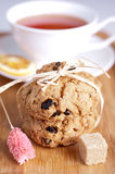Delicious homemade cookies and a cup of tea Royalty Free Stock Photo