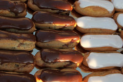 Delicious homemade eclairs Royalty Free Stock Photography