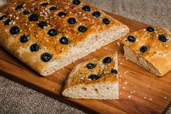 Delicious Homemade Focaccia Royalty Free Stock Images