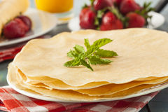 Delicious Homemade French Crepes Stock Photography