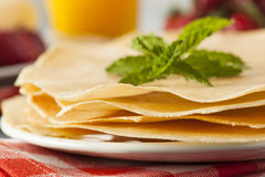 Delicious Homemade French Crepes Stock Images