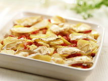 Delicious homemade grilled potatoes with cheese and bacon Royalty Free Stock Images