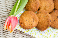 Delicious homemade healthy vegan cookies Royalty Free Stock Photography