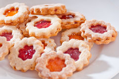 Delicious homemade jam-filled cookies Royalty Free Stock Photography