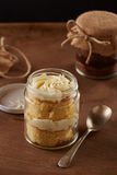 Delicious homemade jar cakes Stock Photos