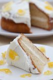 Delicious homemade lemon sponge cake Royalty Free Stock Photos