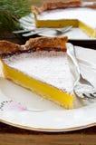 Delicious homemade lemon tart pie Royalty Free Stock Photography