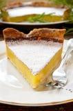 Delicious homemade lemon tart pie Stock Photos