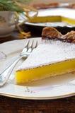 Delicious homemade lemon tart pie Stock Images