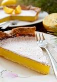 Delicious homemade lemon tart pie Royalty Free Stock Images