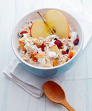 Delicious homemade muesli with fruit and nuts Royalty Free Stock Photography