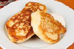 Delicious homemade pancakes. Hot homemade pancakes on a plate Stock Images