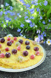 Delicious homemade pancakes with berries Stock Photography