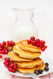 Delicious homemade pancakes with jam Stock Images
