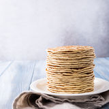 Delicious homemade pancakes Stock Photos