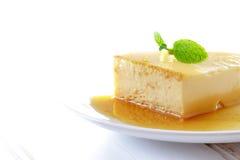 Delicious homemade Panna cotta dessert. Creme caramel, Caramel custard, Custard pudding, Flan Stock Image
