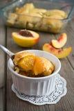 Delicious Homemade Peach Cobbler Royalty Free Stock Photos