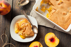 Delicious Homemade Peach Cobbler. With a Pastry Crust royalty free stock image