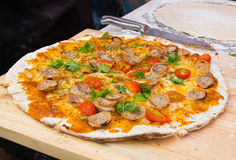 Delicious homemade pizza Royalty Free Stock Photography