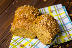 Delicious homemade pumpkin dry cake Royalty Free Stock Photography