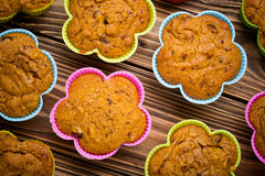 Delicious homemade pumpkin millet cupcakes Royalty Free Stock Photography