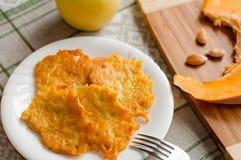 Delicious homemade pumpkin pancakes Stock Image