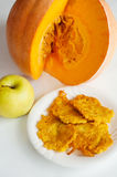 Delicious homemade pumpkin pancakes Royalty Free Stock Photos