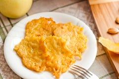 Delicious homemade pumpkin pancakes Stock Photos