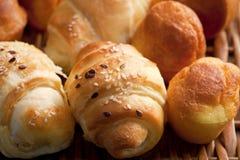 Delicious homemade rolls stock photos