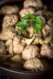 Delicious homemade swedish meatballs with mushroom cream sauce. Royalty Free Stock Photos