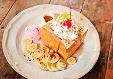 Delicious honey toast Royalty Free Stock Images