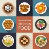 Delicious Hong Kong dishes Royalty Free Stock Images