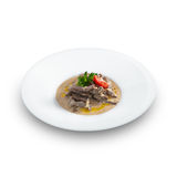 Delicious hot beef stroganoff Stock Images
