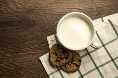 Delicious hot cup of milk , breakfast Stock Photos