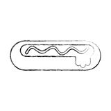 Delicious hot dog icon Royalty Free Stock Photo