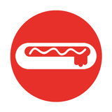 Delicious hot dog icon Stock Photo