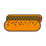 Delicious hot dog icon Royalty Free Stock Image