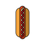 Delicious hot dog isolated icon Stock Photo