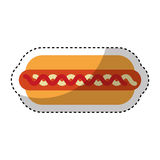Delicious hot dog isolated icon Stock Images