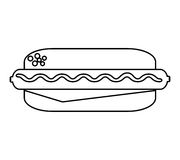 Delicious hot dog isolated icon Stock Photos