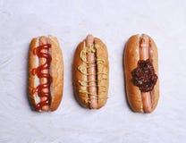 Delicious hot dog Stock Photos