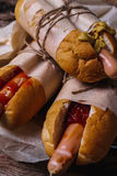 Delicious hot dog Stock Images