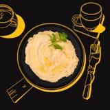 Delicious hummus. Stock Photo