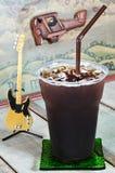 Delicious ice coffee americano stock images