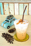 Delicious ice coffee cappuccino Stock Photos