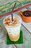 Delicious ice coffee latte Stock Image