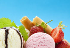 Delicious ice cream Royalty Free Stock Photos